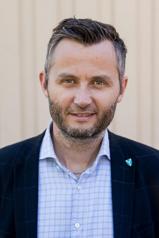 Fiber-ordfører. Ordfører Per Sverre Kvinlaug.